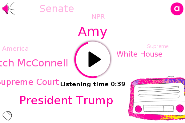 United States Supreme Court,President Trump,Mitch Mcconnell,White House,Senate,NPR,AMY,America