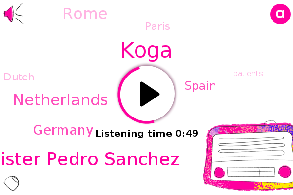 Prime Minister Pedro Sanchez,Koga,Netherlands,Germany,Spain,Rome,Paris