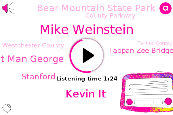 Mike Weinstein,Kevin It,County Parkway,Tappan Zee Bridge,Westchester County,Fairfield County,The New York Times,Hudson Valley,Orange County,Bear Mountain State Park,Hudson,New York,East Man George,Mitani,Bridgeport,Stanford