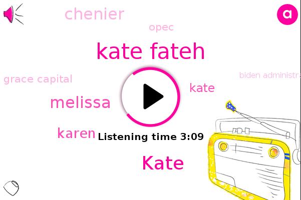 Kate Fateh,Grace Capital,Opec,Biden Administration,Kate,Allergy,Melissa,Karen,Chenier,United States