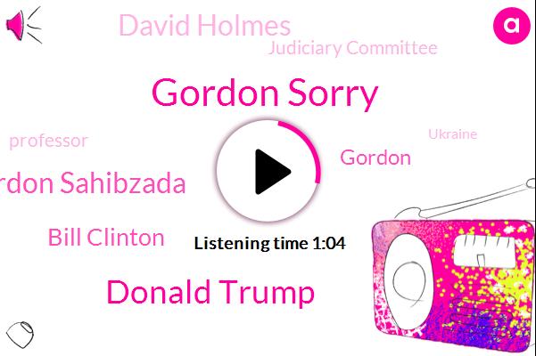 Gordon Sorry,Donald Trump,Judiciary Committee,Ukraine,Gordon Sahibzada,Washington Post,Bill Clinton,Gordon,David Holmes,Professor,President Trump