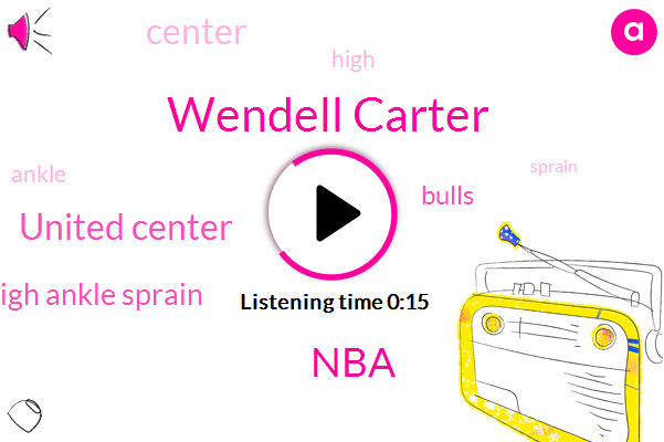NBA,Wendell Carter,United Center,High Ankle Sprain