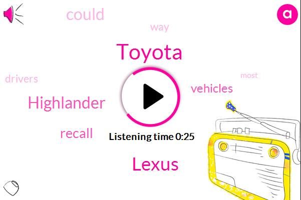 Toyota,Lexus,Highlander