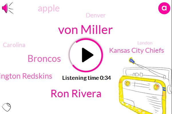 Carolina,Von Miller,Washington Redskins,Ron Rivera,Kansas City Chiefs,London,Denver,Broncos,Beatles,Apple