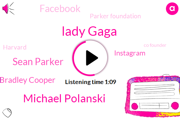 Lady Gaga,Instagram,Michael Polanski,Facebook,Sean Parker,Parker Foundation,Harvard,Bradley Cooper,Co Founder
