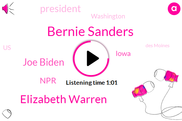 Des Moines,Iowa,President Trump,Washington,Bernie Sanders,Elizabeth Warren,Joe Biden,United States,NPR