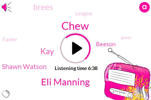 Eli Manning,NFL,League,MVP,New York,Famer,Giants,Football,Chew,Hyundai,NFC,Official,KAY,Shawn Watson,Beeson,Suba,Brees