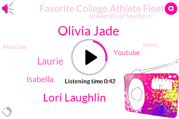 Olivia Jade,Youtube,Favorite College Athlete Fleet,Lori Laughlin,Bribery,Moscow,Laurie,Fraud,University Of Southern,Isabella.,Five Hundred Thousand Dollars,Eight Months