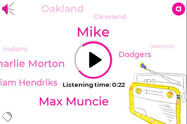 Oakland,Max Muncie,Charlie Morton,Cleveland,Liam Hendriks,Dodgers,Mike