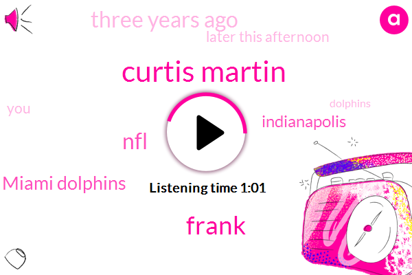 Indianapolis,NFL,Miami,Curtis Martin,Thirty Five Years,Seventy Six Yards,Three Years