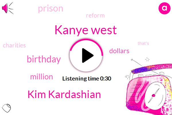 Listen: Kanye West Just Donated $1 Million to Charity for Wife Kim Kardashian's Birthday