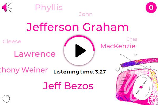Jefferson Graham,Jeff Bezos,Apple,Lawrence,Amazon,CEO,Anthony Weiner,Mackenzie,National Enquirer,OHS,USA,Founder,Twitter,Phyllis,John,Cleese,Chas,Usa.