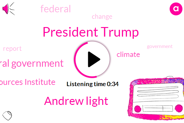 Federal Government,President Trump,World Resources Institute,Andrew Light