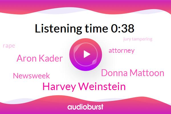 Harvey Weinstein,Donna Mattoon,Rape,ABC,Newsweek,Attorney,Jury Tampering,Assault,Aron Kader