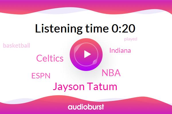 NBA,Celtics,Jayson Tatum,Espn,Basketball,Indiana