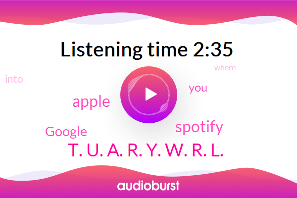Spotify,Apple,Google,T. U. A. R. Y. W. R. L.