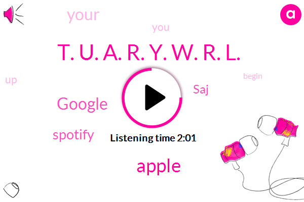 SAJ,Apple,Google,Spotify,T. U. A. R. Y. W. R. L.