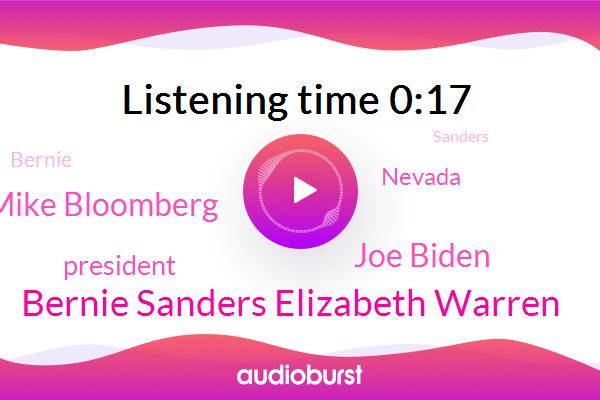 Bernie Sanders Elizabeth Warren,Joe Biden,Mike Bloomberg,President Trump,Nevada