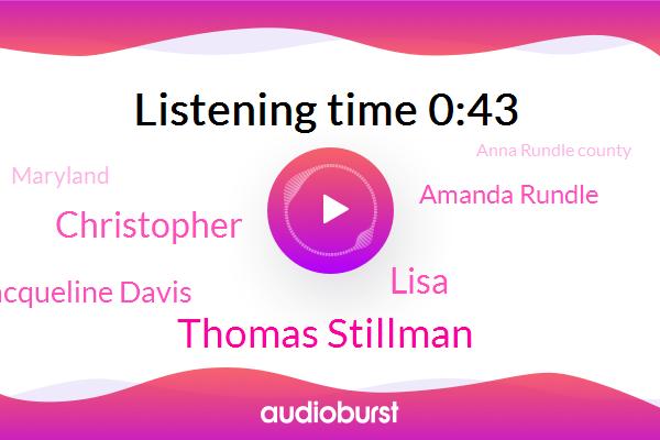 Thomas Stillman,Assault,Endangerment,Lisa,Christopher,Jacqueline Davis,Maryland,Amanda Rundle,Anna Rundle County