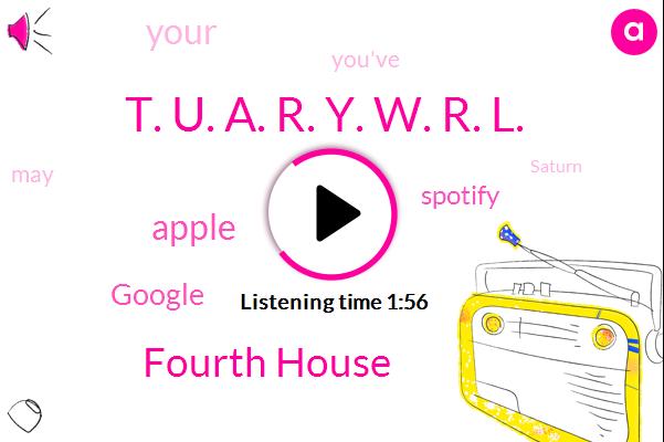 Fourth House,Apple,Google,Spotify,T. U. A. R. Y. W. R. L.