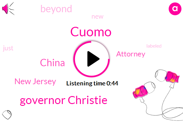 Cuomo,China,New Jersey,Governor Christie,Attorney