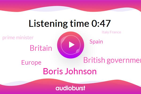 Boris Johnson,Britain,British Government,Europe,Spain,Prime Minister,Italy France