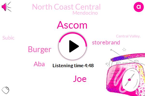 JOE,Mendocino,ABA,Ascom,Storebrand,Subic,Burger,North Coast Central,Central Valley.,Redwan,Chicago