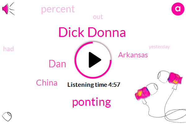 Dick Donna,Ponting,China,Arkansas,DAN