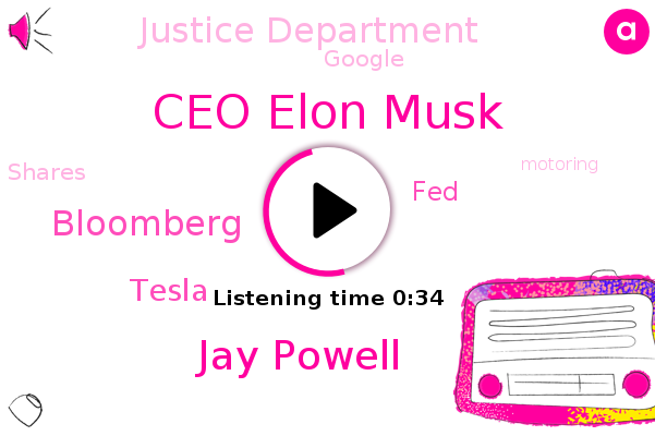 Ceo Elon Musk,Jay Powell,FED,Tesla,Bloomberg,Justice Department,Google