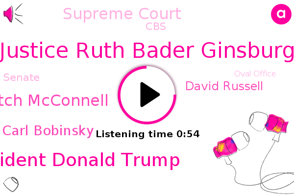 Justice Ruth Bader Ginsburg,Detroit,President Donald Trump,Mitch Mcconnell,Carl Bobinsky,Supreme Court,CBS,Senate,Oval Office,David Russell,Michigan,Attorney