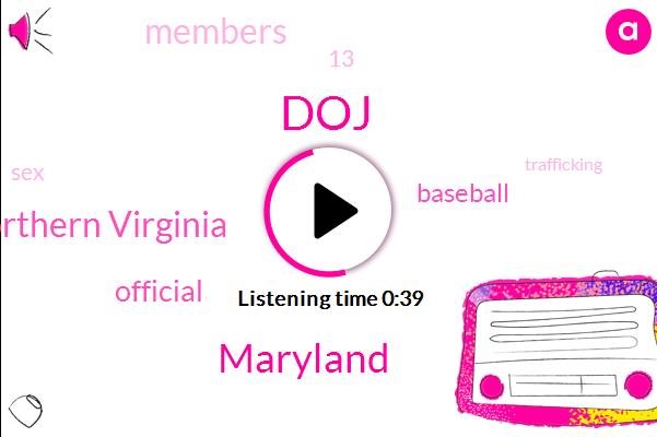 DOJ,Maryland,Northern Virginia,Baseball,Official