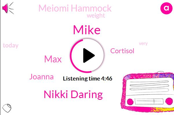 Nikki Daring,Cortisol,MAX,Meiomi Hammock,Joanna,Mike