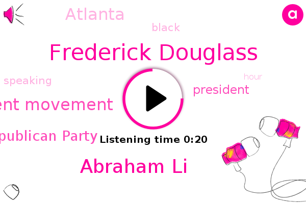 Black Economic Empowerment Movement,Republican Party,Frederick Douglass,Abraham Li,President Trump,Atlanta
