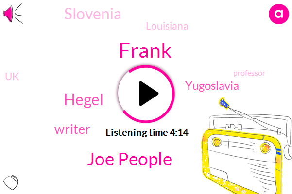 Yugoslavia,Frank,Joe People,Slovenia,Hegel,Louisiana,Writer,Soccer,UK,Professor,United States