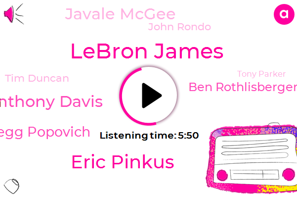 Lakers,Lebron James,Eric Pinkus,NBA,New York Knicks,Anthony Davis,Gregg Popovich,Ben Rothlisberger,Sacramento Kings,Pittsburgh,Spurs,Minnesota Timberwolves,Javale Mcgee,Executive,John Rondo,Tim Duncan,LA,Brooklyn,Tony Parker
