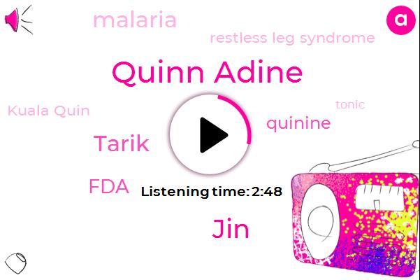 Listen: Quinine: Medicine or Mixer?