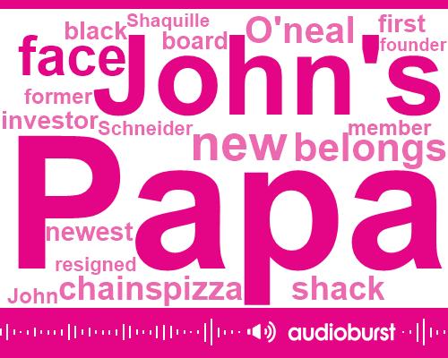 Papa John,John Schneider,O'neal Shack,Shaquille,CEO,Founder