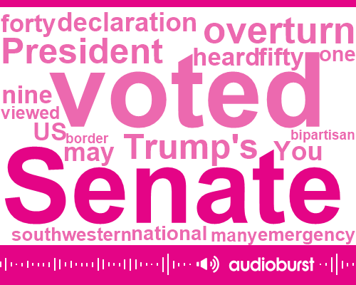 Listen: Senate rejects Trump's national emergency declaration