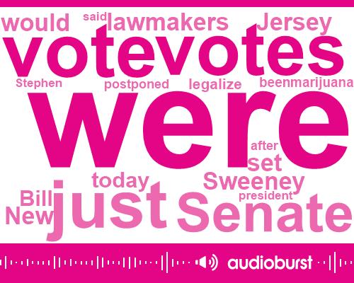 "Listen: N.J. lawmakers face ""razor thin"" vote on pot"