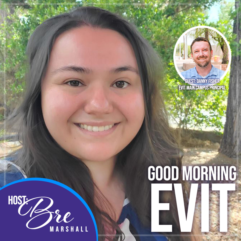 EVIT Criminal Justice Instructor Derrell Branch & student Sheyla Vazquez
